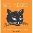 JG CD GATO NEGRO NYLON BLANCO